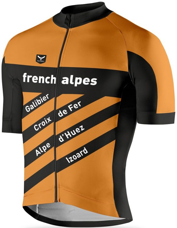 French Alpes, cycling jerseys, maillot