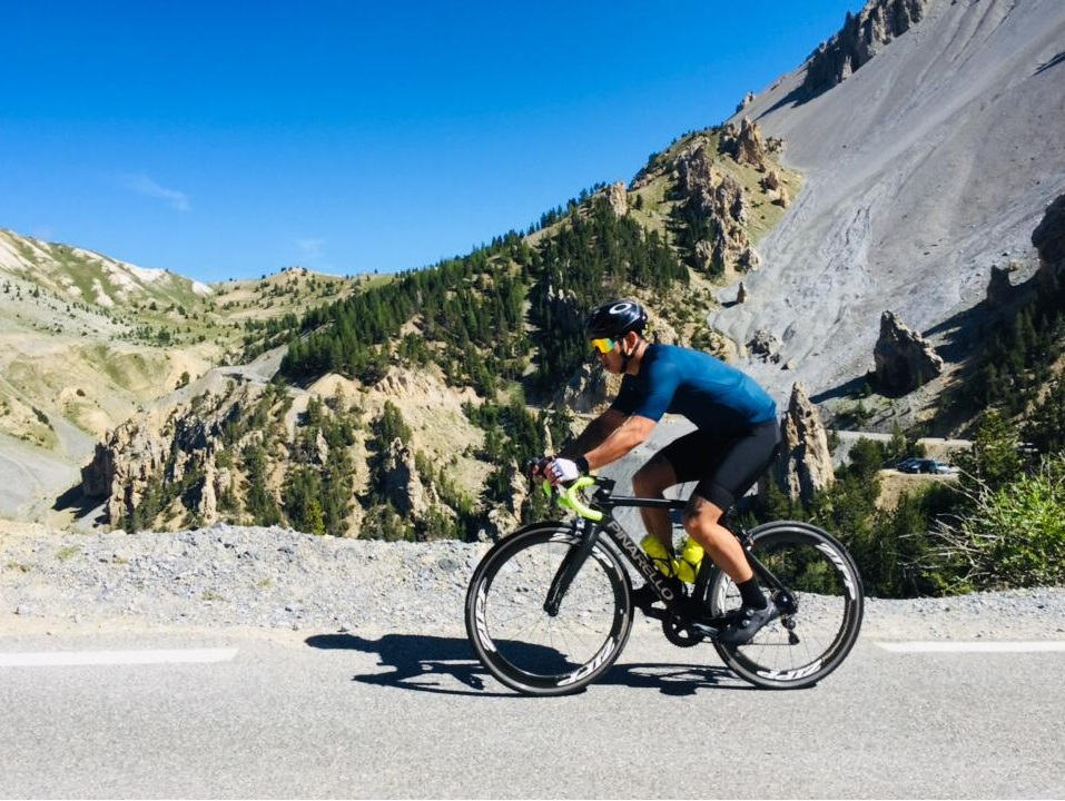 Cycling on Col d'Izoard