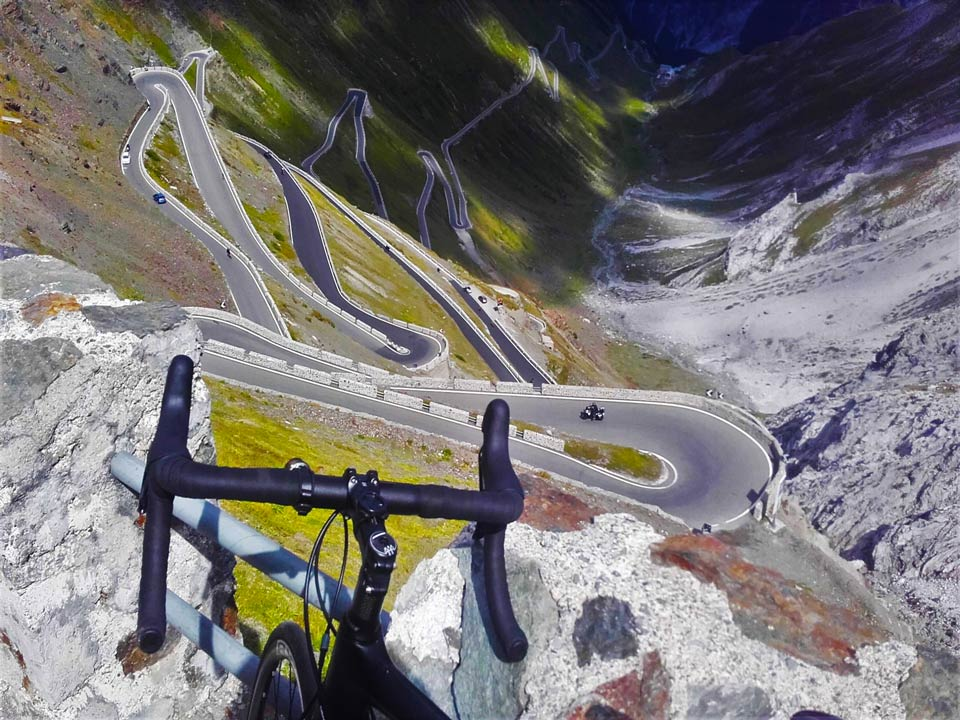 The 48 switchbacks of the mighty Stelvio