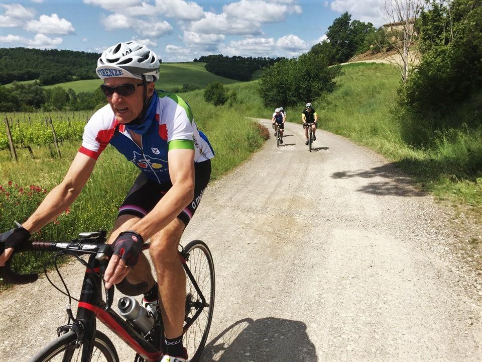 White gravel roads of Tuscany, strada bianca