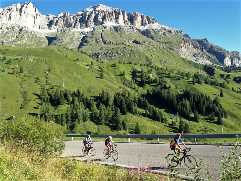 Just another day on the Sella Ronda in the Dolomites
