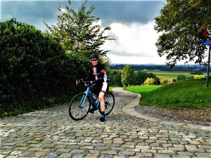 The Paterberg cobbled wall is a key feature at the Tour of Flanders