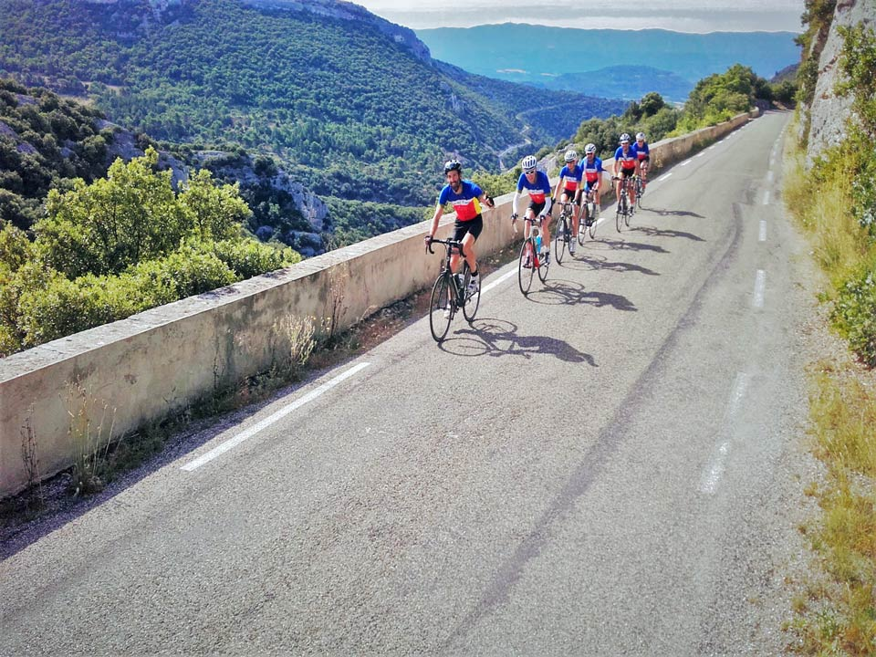Cycling through Provence on the way to Mont Ventoux