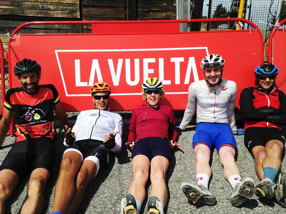 Chilling out at La Vuelta
