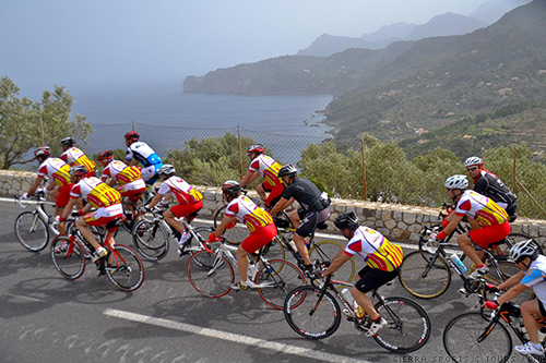 On the cycling roads in Mallorca