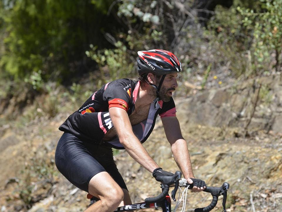 Cycling Tawonga Gap in the Victorian High Country