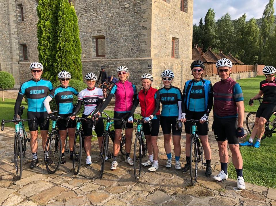 The Sierra crew riding from Boltaña in the Spanish Pyrenees