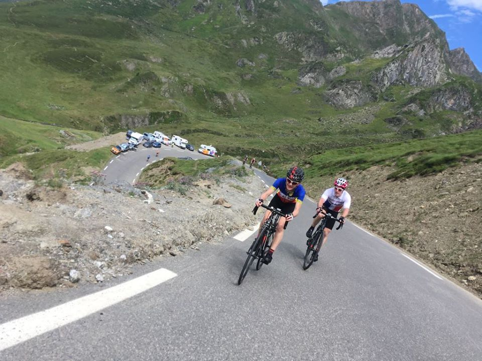 Cycling Col du Tourmalet in the French Pyrenees