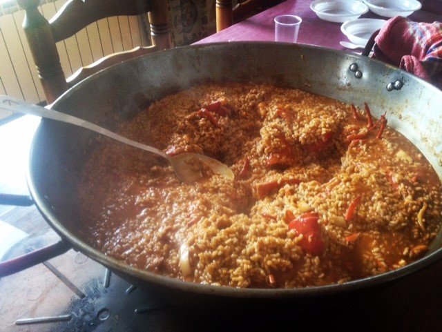 Paella meloso - this version with squid and lobster!