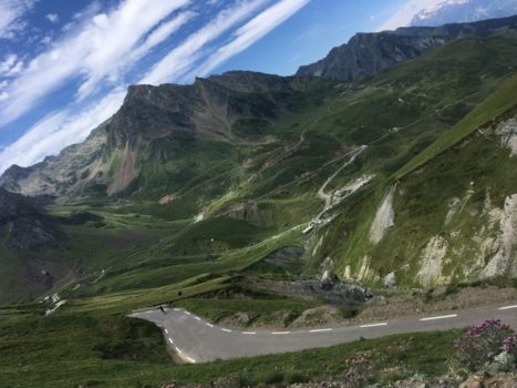 Cycling on the Col du Tourmalet. Pyrenees Coast 2 Coast Cycling Tour