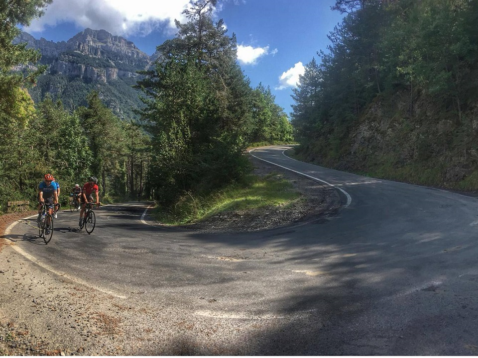 Cycling through the Spanish Pyrenees. Pyrenees Coast 2 Coast Cycling Tour