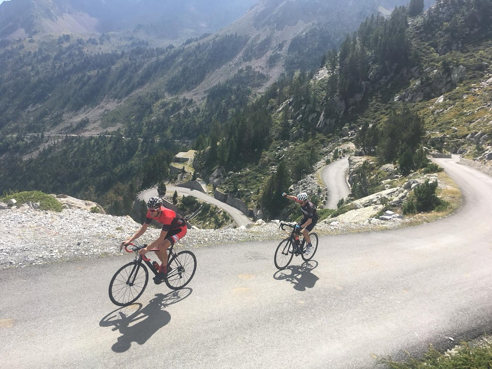 Cap d'Long climb in the French Pyrenees. Pyrenees Coast 2 Coast Cycling Tour