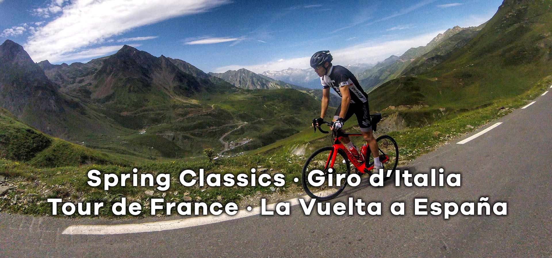 Cycling Tours to the Spring Classics, Cycling Tours to the Giro d'Italia, Cycling Tours to the Tour de France, Cycling Tours to La Vuelta