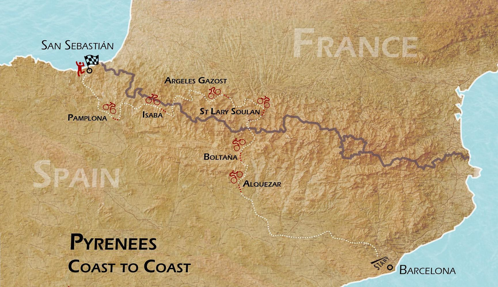 Pyrenees Coast 2 Coast Cycling Tour
