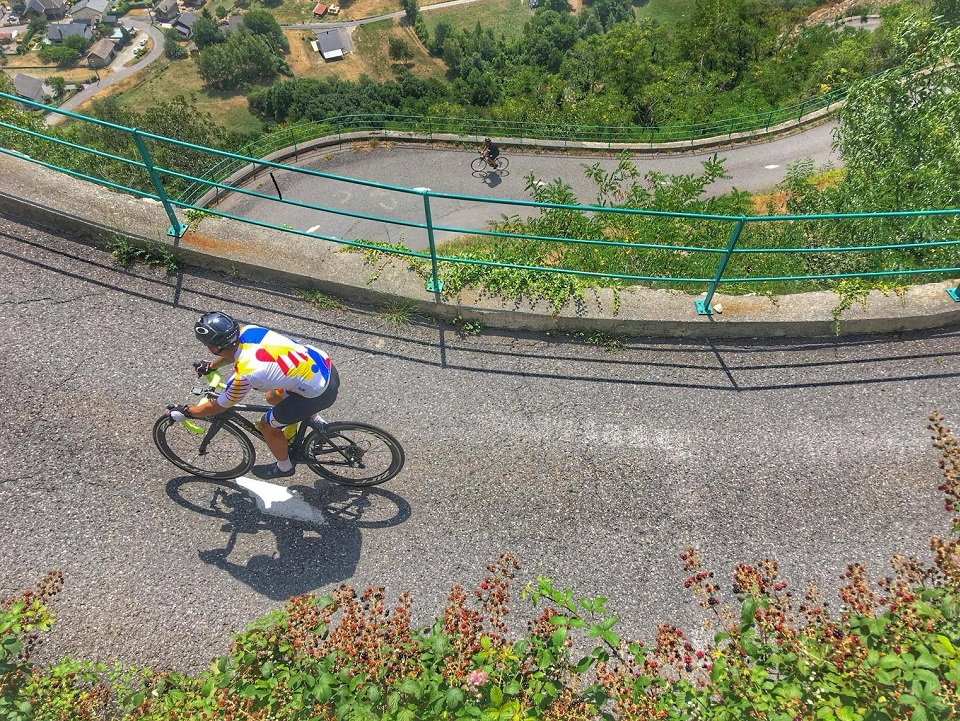 The cycling switchbacks found on Lacets de Montvernier