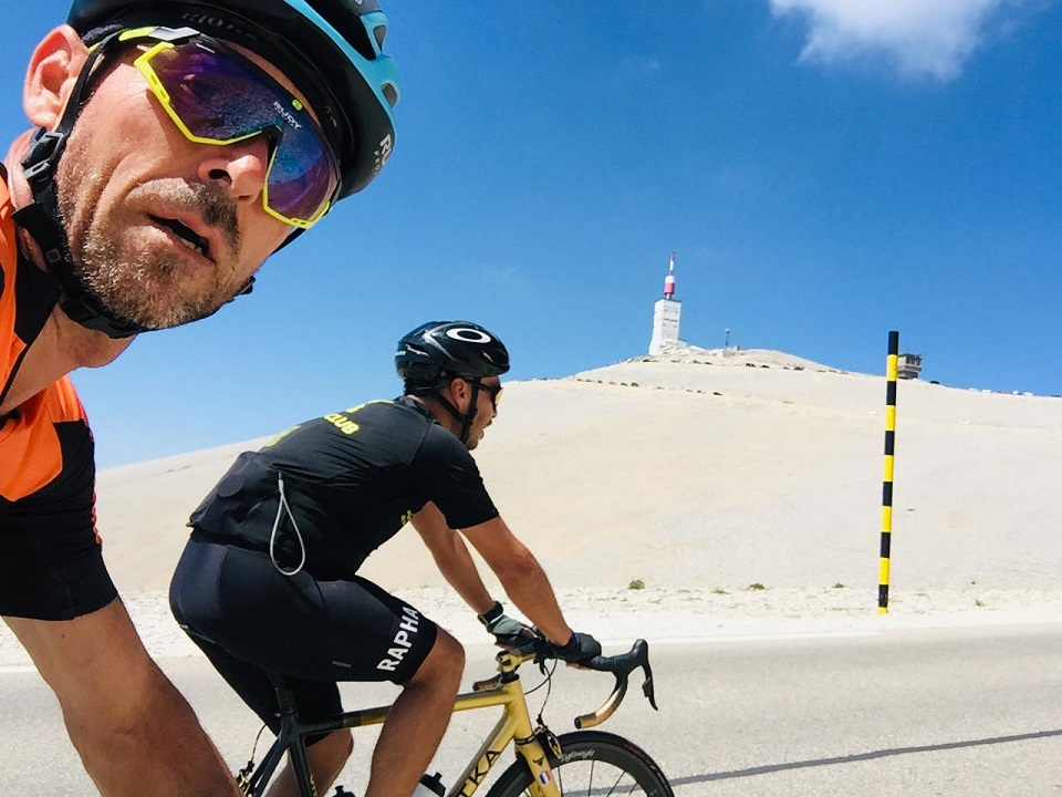 Keeping an eye on the prize up to the Mont Ventoux summit