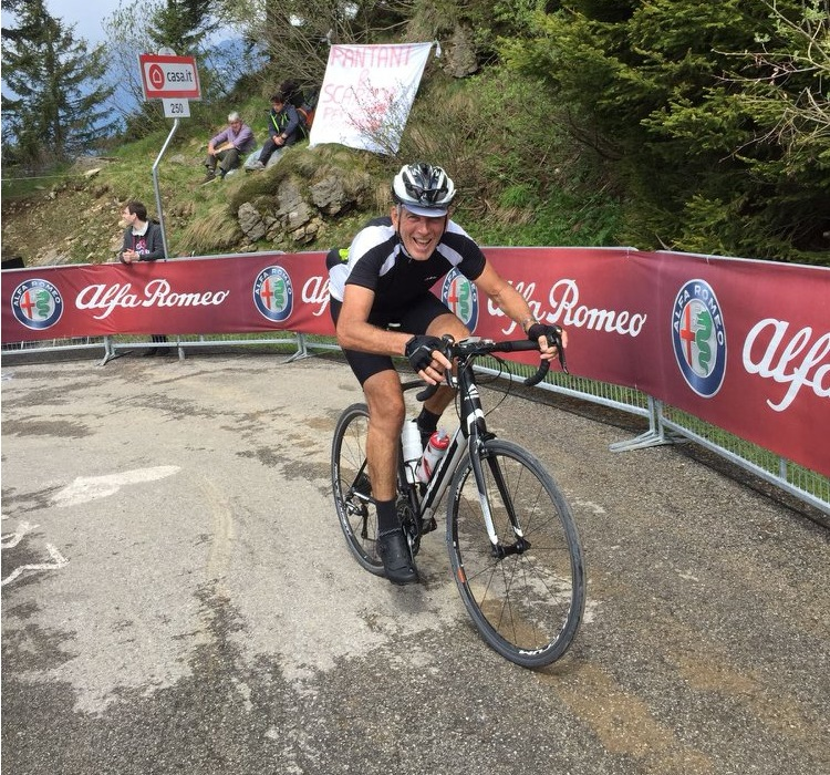Punching out Monte Zoncolan during the Giro d'Italia