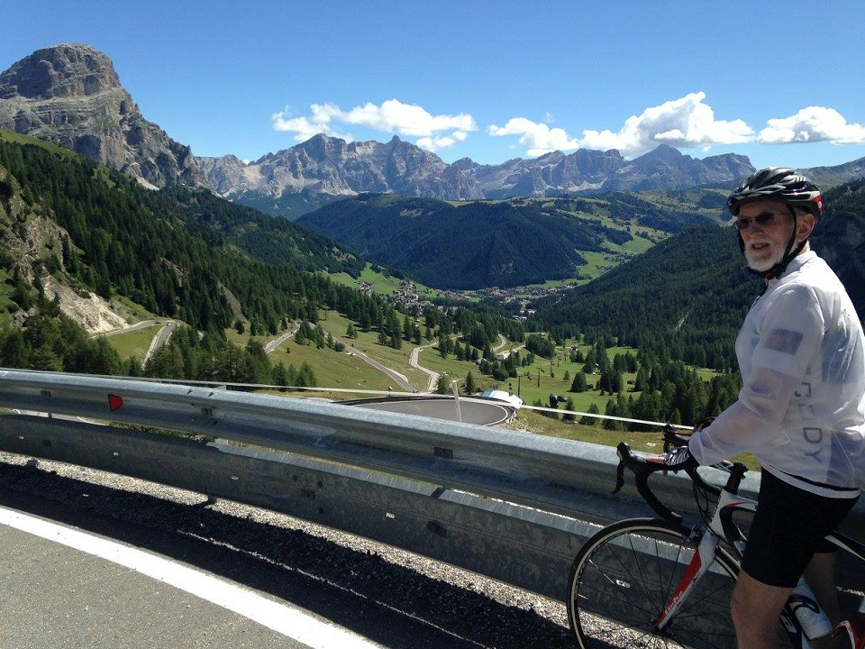 Passo Gardena and its alpine meadows and picturesque Dolomites mountain views