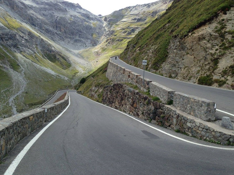 Eye on the Stelvio Pass prize and its 48 switchbacks