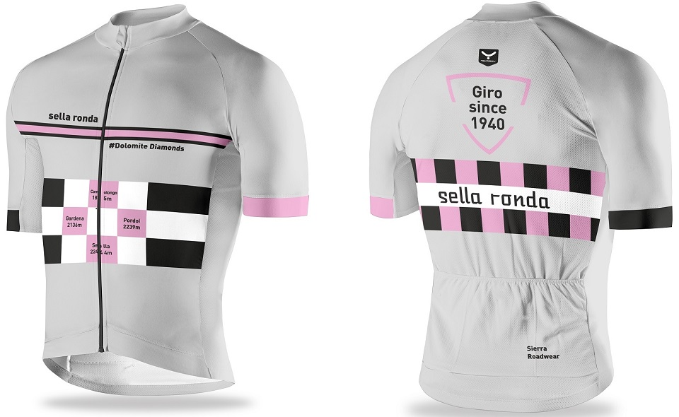 Take home some Dolomite Diamonds with our Sella Ronda cycling jersey