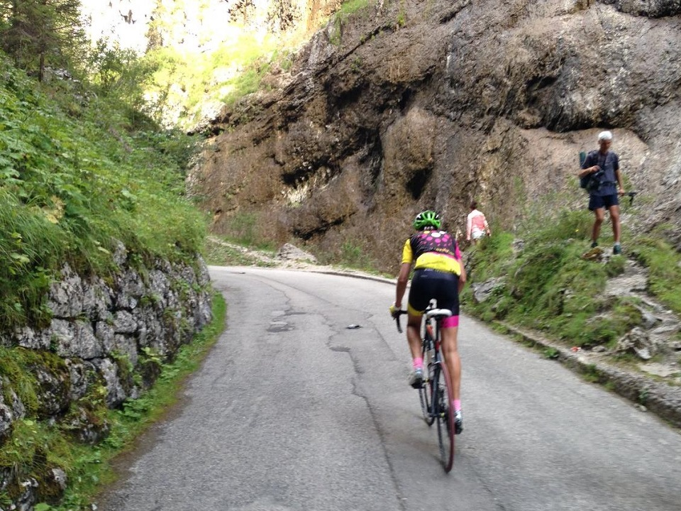 All Dolomites cycling adventures need to enter the Sottoguda canyon