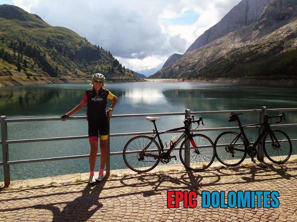Lago di Fedaia and cycling in the Italian Dolomites