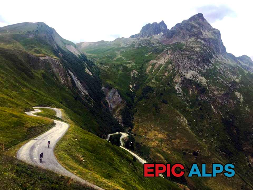 The epic Col du Glandon in the French Alps