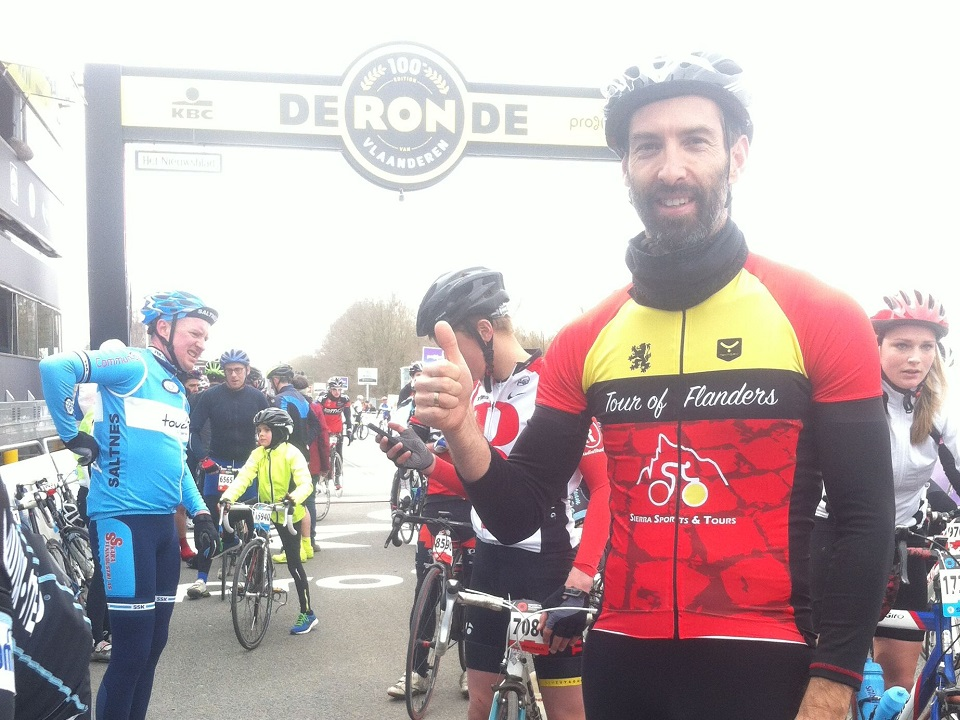 Tour of Flanders cycling jersey at Oudenaarde