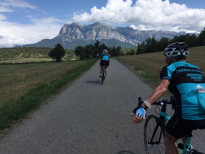 Following the quiet country cycling lanes in the foothills of the Spanish Pyrenees