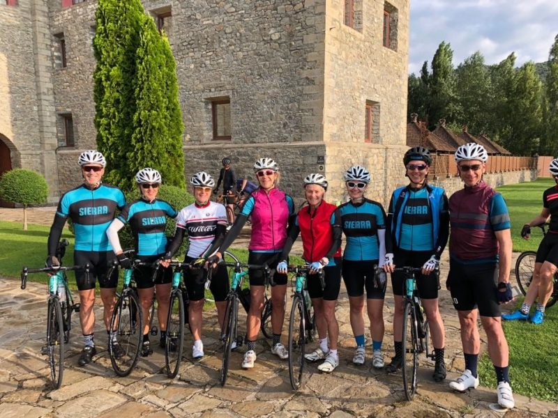 Getting ready to cycle in the Spanish Pyrenees