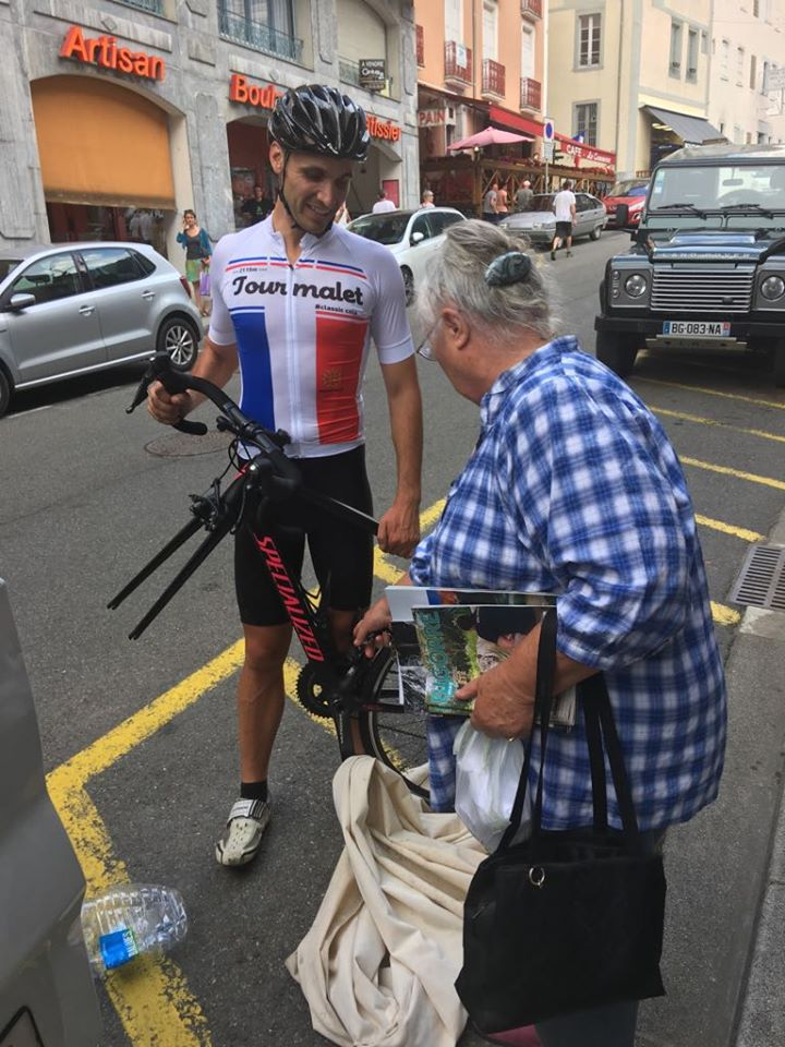 Tourmalet cycling jersey with the locals