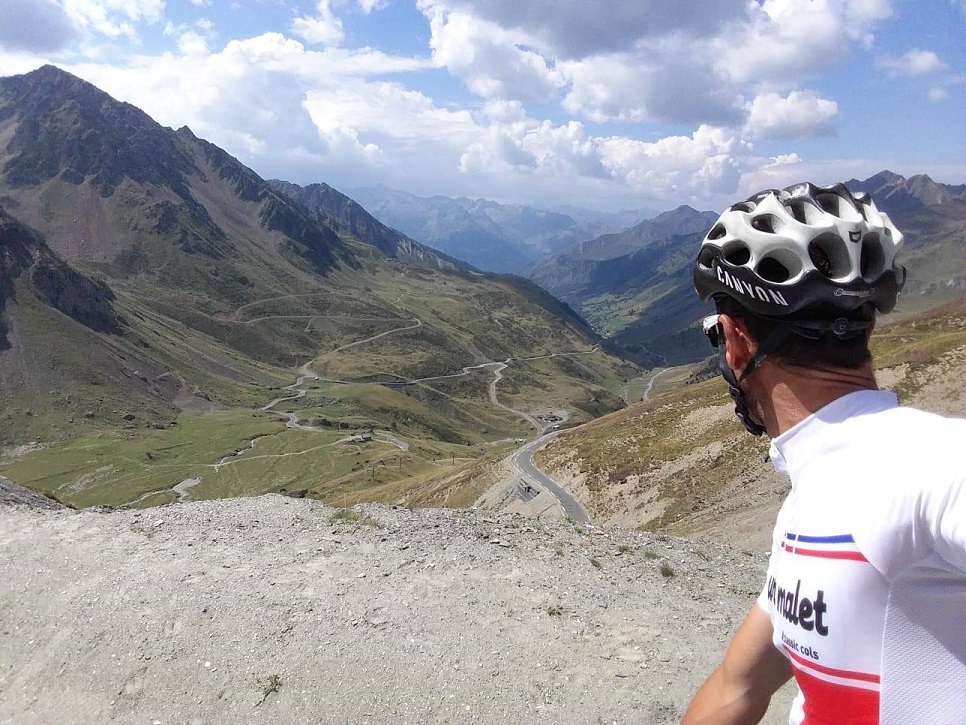 Col du Tourmalet looking back towards Luz-Saint-Sauveur