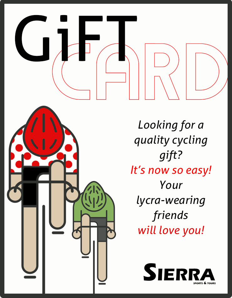 Cycling Gift Card and Cycling Souvenirs