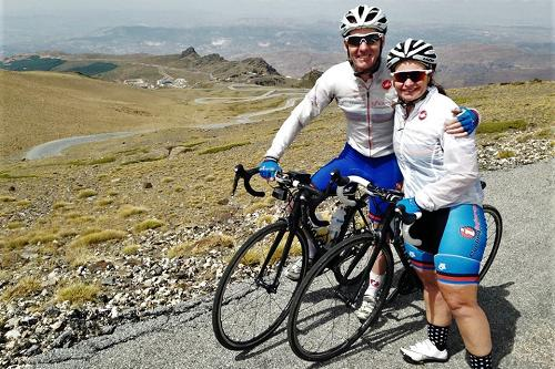 On the cycling climb Pico de Veleta