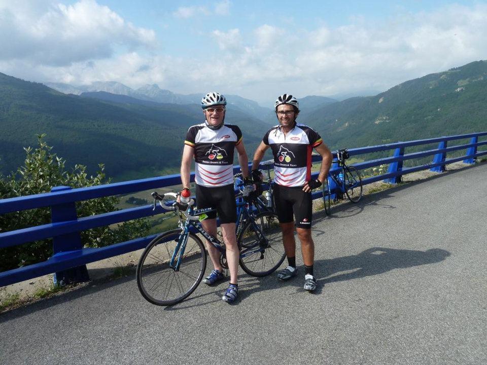 Big views back into Spain from Col de la Pierre San Martin